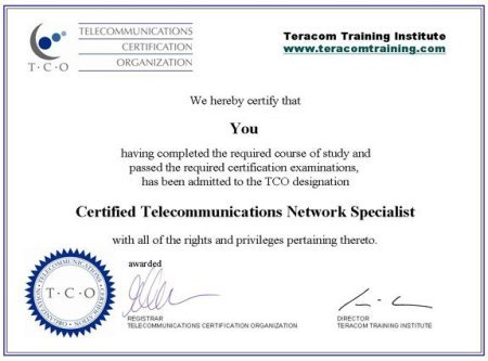 telecommunications certificate