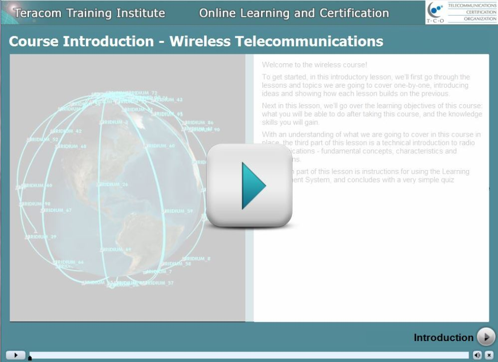 Course 2206 Wireless Telecommunications - Play Introduction