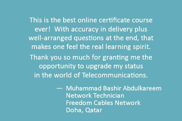 This is the best online certificate course ever!  With accuracy in delivery plus well-arranged questions at the end, that makes one feel the real learning spirit. 