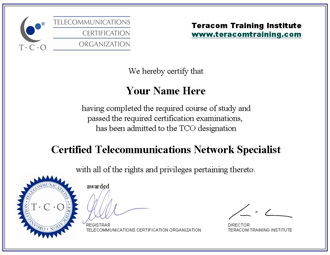 CTNS telecommunications certificaiton courses