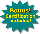 free bonuses - certification and online courses