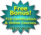 Free bonus TCO Certification Packages with Live Online or In-Person Instructor-Led Trainiing