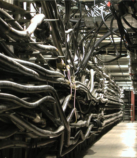 cable vault in a Central Office (CO)