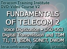 DVD Video Course V2 - Fundamentals of Telecom 2: Voice Digitization . DS0-DS3 . Digital Transmission and TDM . T1 . T3 . ISDN . SONET . Fiber and DWDM - preview