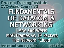 DVD Video Course V3 - Fundamentals of Datacom and Networking: WANs and LANs . MAC Frames vs. IP Packets . The Network Cloud - preview