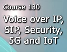 Course 130 Voice over IP, SIP, Security, 5G and the Internet of Everything