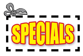 specials, deals, discounts, bonuses